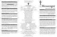 January 20–26, 2013 - First Presbyterian Church
