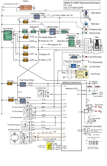 Bmw R1100rt Electrical Schematic P 1 Of 3 V2  2  11