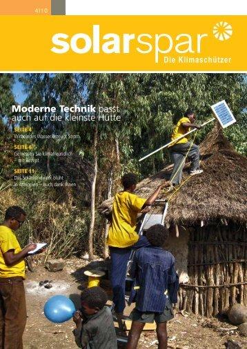 Ausgabe 4/2010 - Solarspar