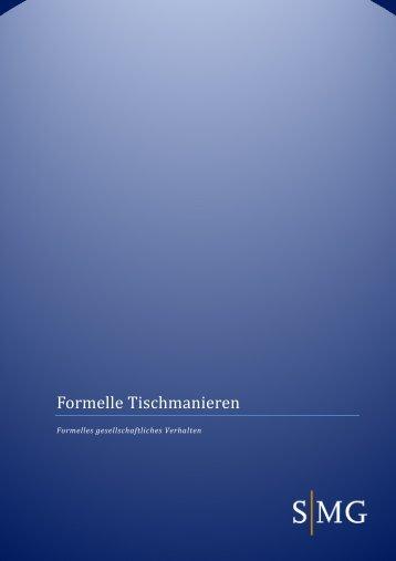 Formelle Tischmanieren - SMG Sales Management Group