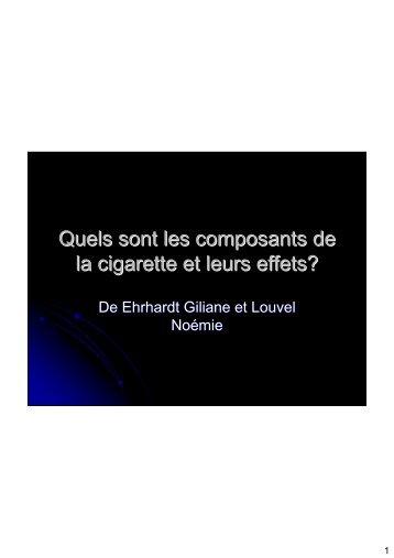 Quels sont les composants de la cigarette et
