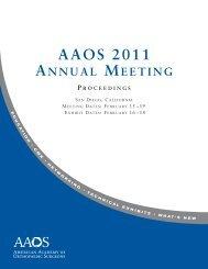 Annual Meeting Proceedings - American Academy of Orthopaedic ...