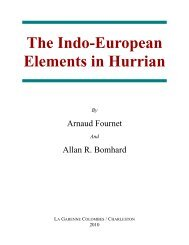 The Indo-European Elements in Hurrian