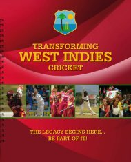marCh 2011: regional 4-day evenT - West Indies Cricket Board