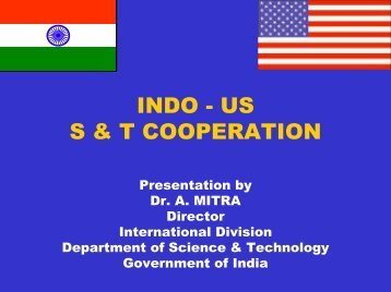 INDO - US S & T COOPERATION