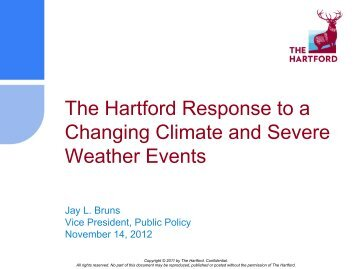 The Hartford Response to a Changing Climate and Severe Weather ...
