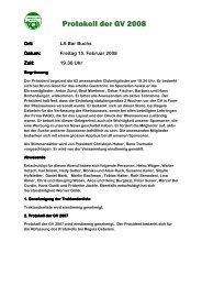 Protokoll der GV 2008