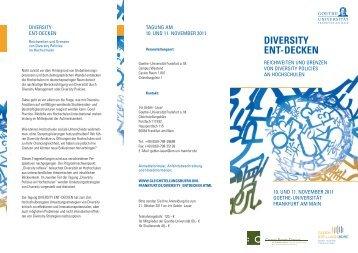 Programm Diversity entdecken - Blogs Freie Universität Berlin