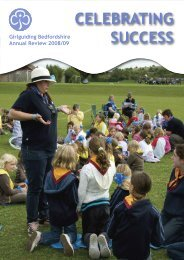 CELEBRATING SUCCESS - Bedfordshire Guiding