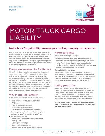 Motor Truck Cargo Supplemental Application Amwins