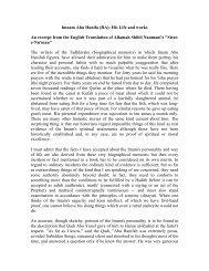 Imaam Abu Hanifa (RA): His Life and works An ... - Teachislam.com