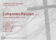 Programmheft - Vocalensemble Hottingen Zürich