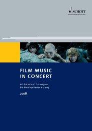 FILM MUSIC IN CONCERT - Schott Music