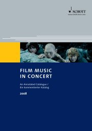FILM MUSIC IN CONCERT - Schott Music