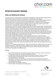 Kompositionswettbewerb 2013 - Tiroler-Saengerbund