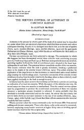 the nervous control of autotomy in carcinus maenas - The Journal of ...
