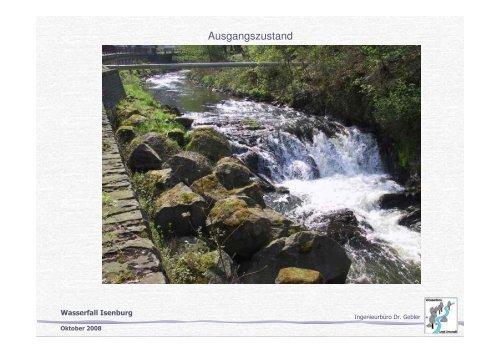 Umgestaltung des ehemaligen Wasserfalles in Isenburg
