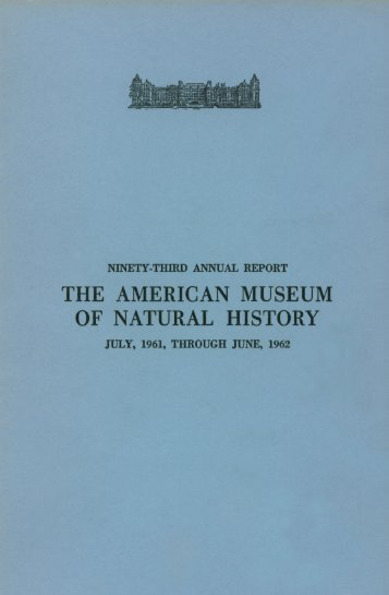 1961-1962 - American Museum of Natural History