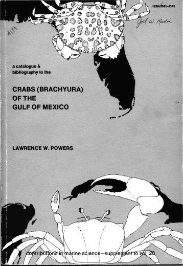 CRABS (BRACHYURA) OF THE GULF OF MEXICO