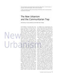 The New Urbanism and the Communitarian Trap - Washington State ...