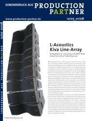 L-Acoustics Kiva Line-Array - R+R Sonicdesign AG