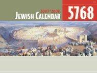 Calendar SMALL 07-08.indd - Chabad House Calendar