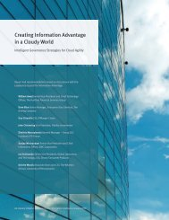 Creating Information Advantage in a Cloudy World