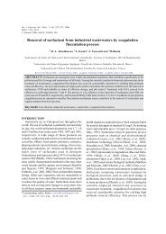 Removal of surfactant from industrial wastewaters by coagulation ...