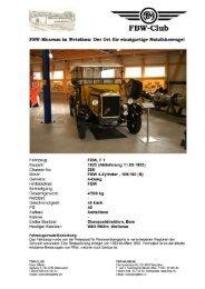 FBW Bus F1 Chassis 0288, Jg. 1925 - Fbw-Club