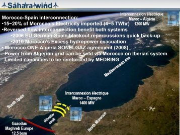 Morocco-Spain interconnection: •15~20% of Morocco's ... - Dii