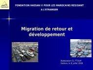 Migration & Développement Action de la Fondation Hassan II pour ...