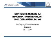 Echtzeitsysteme in Informatikunterricht und Ausbildung