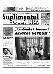 """Andrei {erban"""" - Suplimentul de Cultura"""