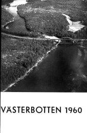VÄSTERBOTTEN 1960