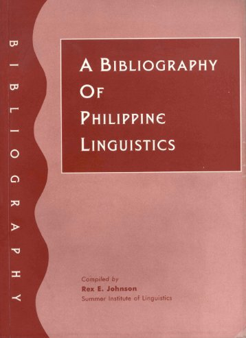 A Bibliography of Philippine Linguistics - SIL International