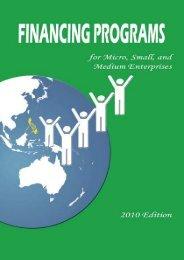 Financing Programs for MSMEs Handbook - DTI