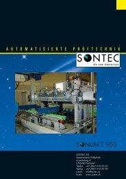 LIN T 903 - SONTEC AG, Automation und Prüftechnik