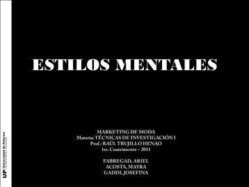 ESTILOS MENTALES