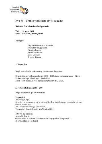NVF 41 – Drift og vedligehold af veje og gader Referat fra Islands ...