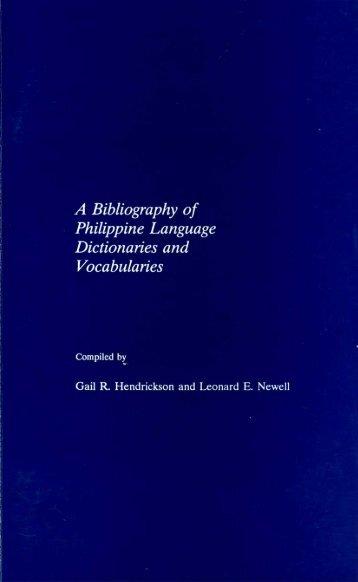 A Bibliography of Philippine Language ... - SIL International
