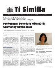 Pambansang Summit sa W ambansang Summit sa W ... - UP Baguio