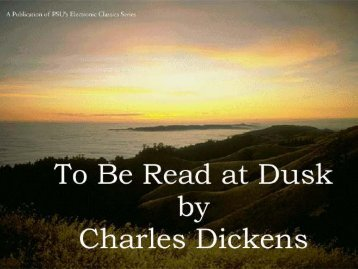 To Be Read at Dusk - Penn State University