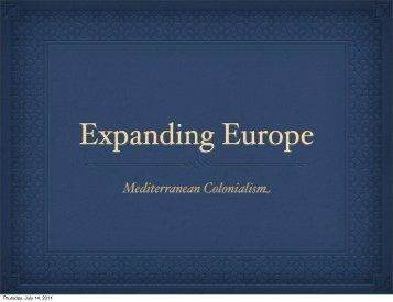 Mediterranean Colonialism