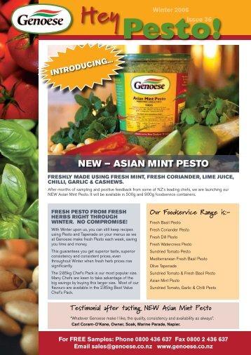 NEW – ASIAN MINT PESTO - Genoese