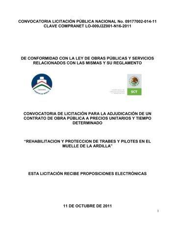 Rehabilitación y protección de trabes y pilotes - Puerto de Guaymas