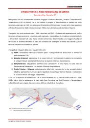 i progetti per il nodo ferroviario di genova - Metrogenova.com