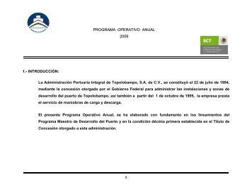 Descargar Programa Operativo Anual 2008 - Puerto de Topolobampo