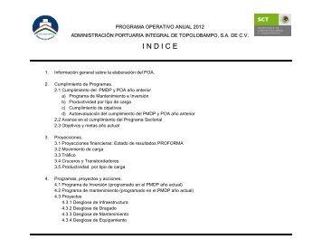 Descargar Programa Operativo Anual 2012 - Puerto de Topolobampo