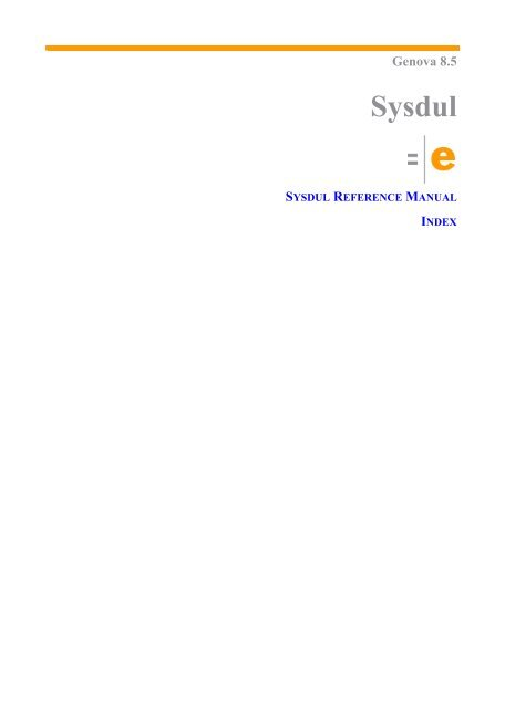 Sysdul Programming Language (for Genova 8) - Esito