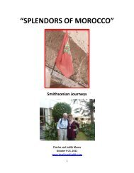"""""""SPLENDORS OF MOROCCO"""" - Charlie and Judith's web site"""